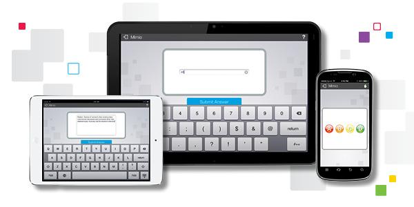 Des applications MimioMobile sont aussi disponibles pour les utilisateurs