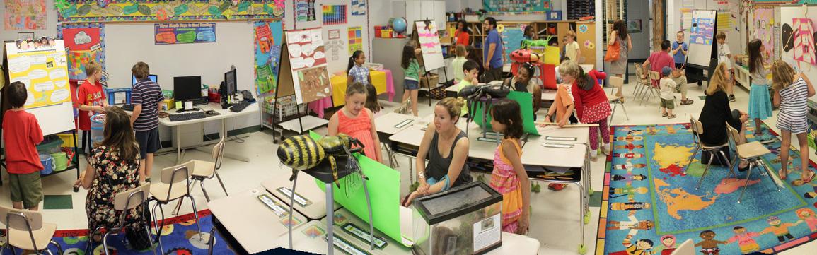Photo d'une classe inversée