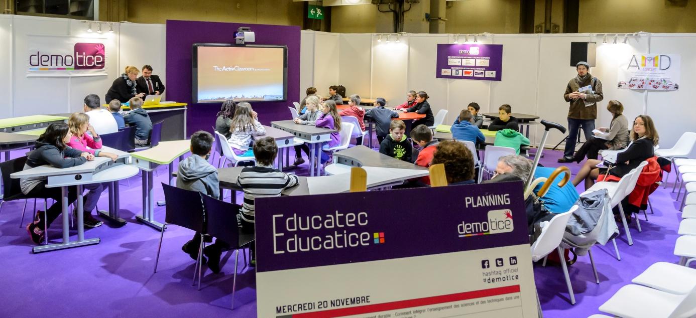 Educatec educatice une classe de ce2 adopte le num rique for Salon educatec
